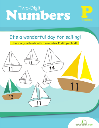 Preschool Math Workbooks: Two-Digit Numbers