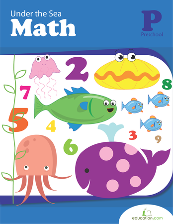 Preschool Math Workbooks: Under the Sea Math