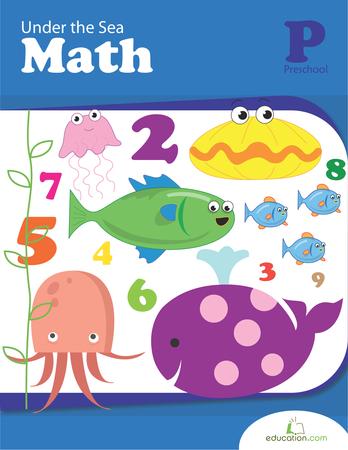 Preschool Math Workbooks: Under the Sea Math