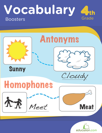 Fourth Grade Reading & Writing Workbooks: Vocabulary Boosters