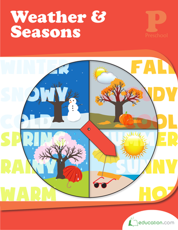 Preschool Math Workbooks: Weather & Seasons