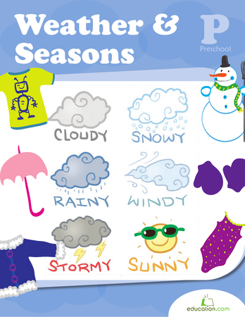 Preschool Reading & Writing Workbooks: Weather & Seasons