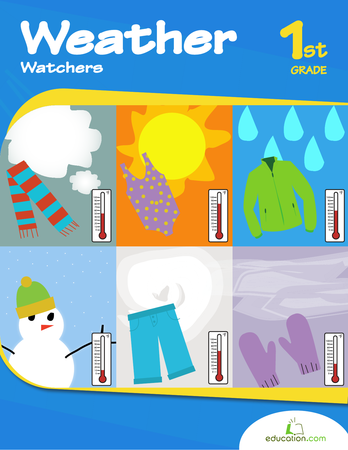 First Grade Science Workbooks: Weather Watchers