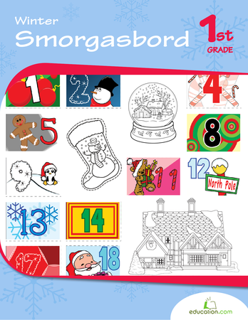 First Grade Reading & Writing Workbooks: Winter Smorgasbord
