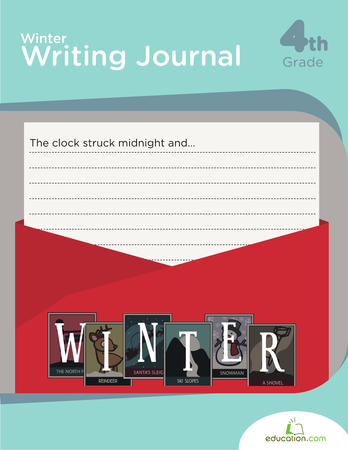 Fourth Grade Reading & Writing Workbooks: Winter Writing Journal