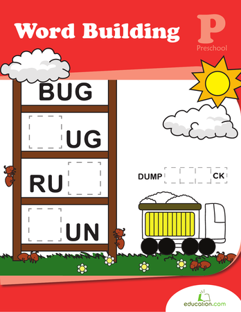 Preschool Reading & Writing Workbooks: Word Building