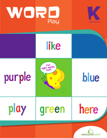 Kindergarten Reading & Writing Workbooks: Word Play
