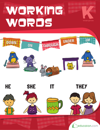 Kindergarten Reading & Writing Workbooks: Working Words