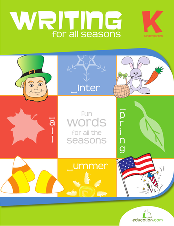 Kindergarten Reading & Writing Workbooks: Writing for All Seasons