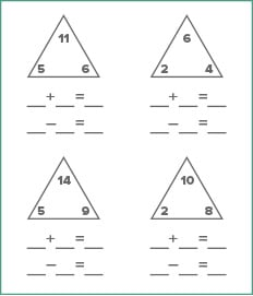 math worksheet generator  educationcom addition and subtraction fact families