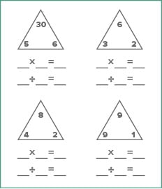 Math Worksheet Generator  Educationcom Multiplication And Division Fact Families