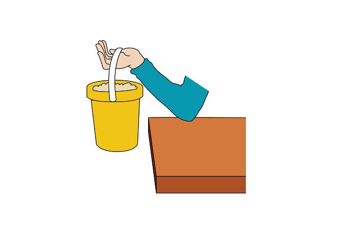 Human Arm Lifting Sand