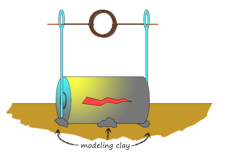 Electric Motor with Clay