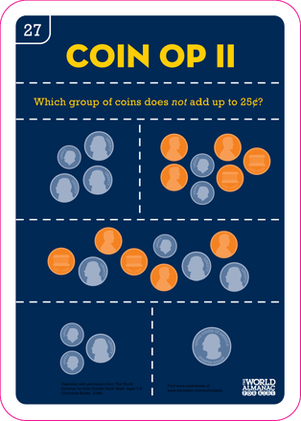 Second Grade Math Worksheets: Coin Op II