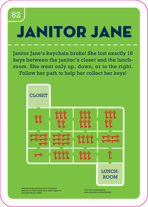Second Grade Math Worksheets: Janitor Jane