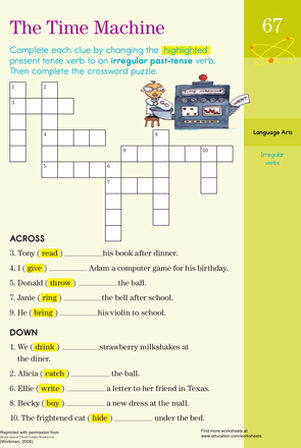 Third Grade Reading & Writing Worksheets: Past Tense Practice