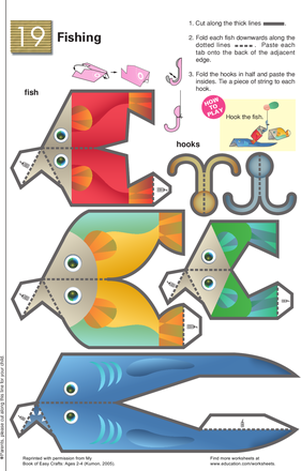 First Grade Arts & Crafts Worksheets: A Fishy Way to Practice Fine Motor