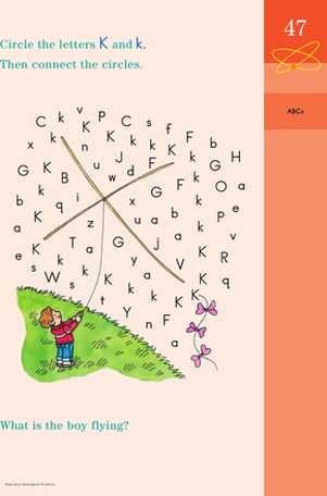 Kindergarten Reading & Writing Worksheets: Connecting K: Practicing Reading Skills