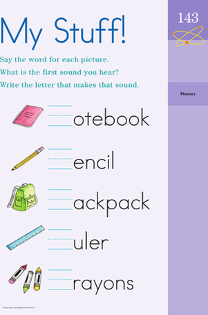 Kindergarten Seasons Worksheets: Backpack Letters