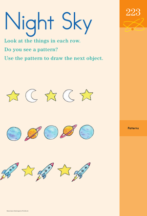 Kindergarten Math Worksheets: Finding Patterns in the Night Sky