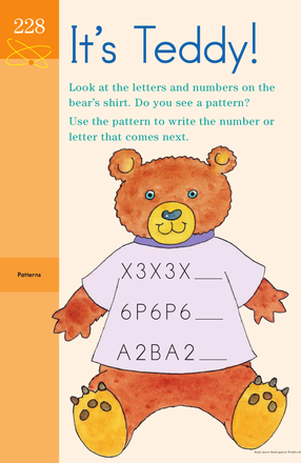 Text Filled Teddy: Identifying Patterns