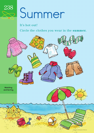 Kindergarten Science Worksheets: Suddenly Summer: Learning About the Seasons