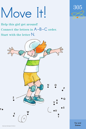 Kindergarten Reading & Writing Worksheets: Connecting the Alphabet N to Z