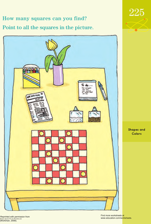 Preschool Math Worksheets: Square Search!