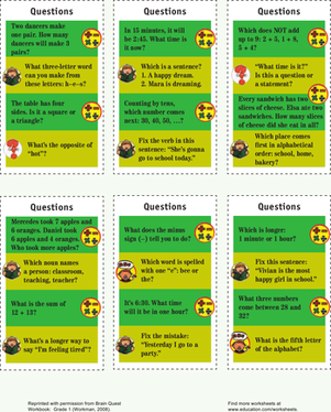First Grade Science Worksheets: First Grade Trivia