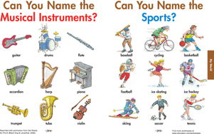 Preschool Reading & Writing Worksheets: Name That Tune: Practice Identification