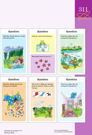 Kindergarten Reading & Writing Worksheets: Quiztastic Questions: Test Overall Knowledge