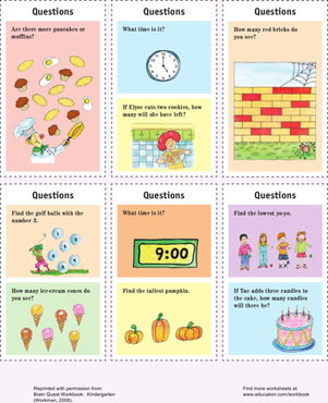 Kindergarten Science Worksheets: Kindergarten Cards: Trivia!