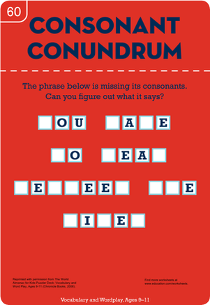 Fifth Grade Reading & Writing Worksheets: Consonant Conundrum