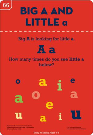 Preschool Reading & Writing Worksheets: Big A and Little a
