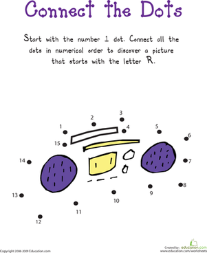 """Connect the Dots: Practicing """"R"""""""