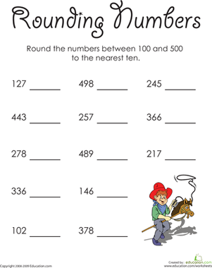 Rounding to the Nearest Hundred | Worksheets, Rounding numbers and ...