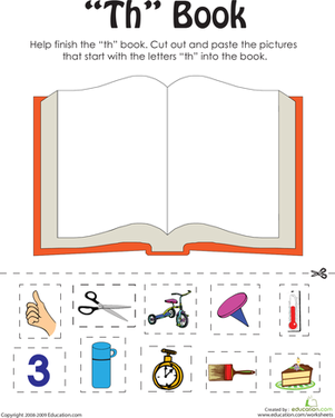 "First Grade Reading & Writing Worksheets: ""Th"" Words: A Word Family Book"