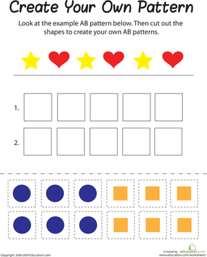 AB Pattern | Worksheet | Education.com