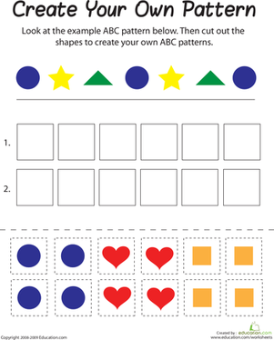 Shape Patterns | Worksheet | Education.com