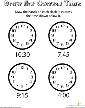 Draw the Hands of the Clock III