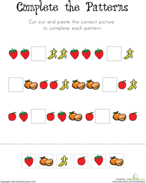 First Grade Math Pattern Worksheets | Mreichert Kids Worksheets