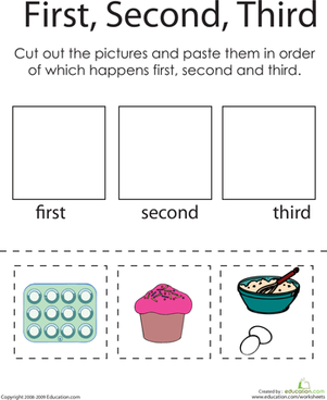 First, Second, Third: A Baking Challenge | Worksheet | Education.com
