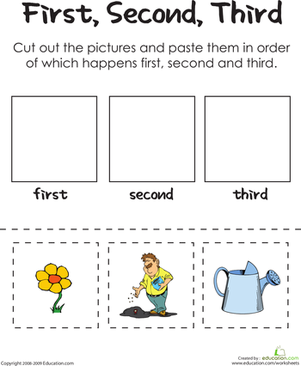 First Second Third A Gardeners Thumb Worksheet Educationcom