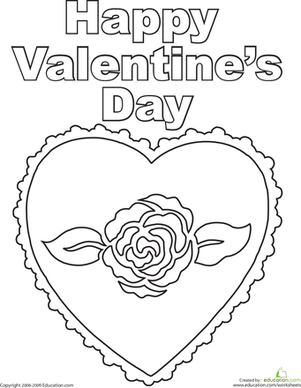 Happy Valentine\'s Day | Worksheet | Education.com
