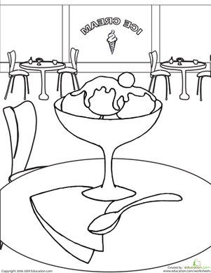 ice cream store coloring pages-#42