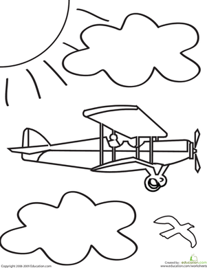 Color the Airplane Coloring Page