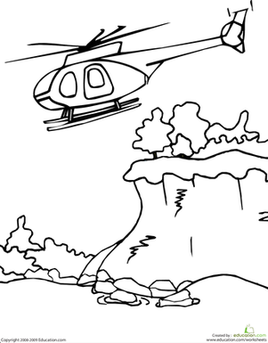 Color The Helicopter