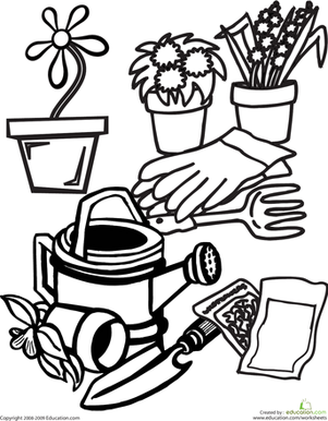 Color the Gardening Gear