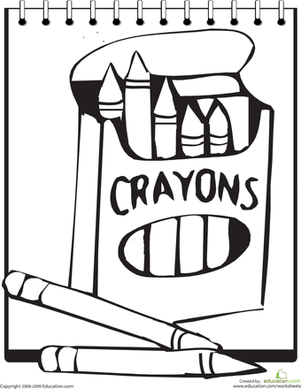 Kindergarten Coloring Worksheets: Color the Crayons