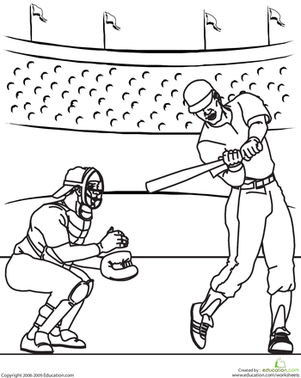 Coloring Pages Of Baseball Things | Coloring Pages